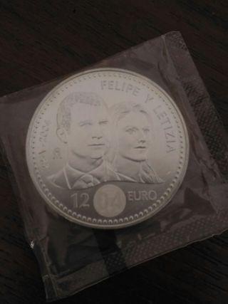 Moneda de 12 euros Boda Real