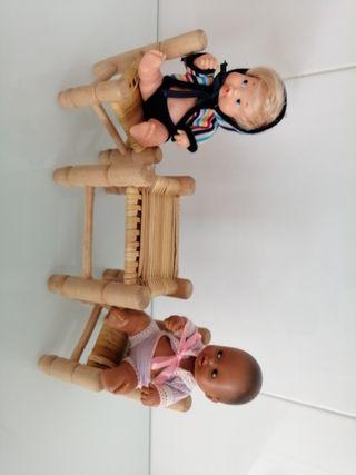 sillas y mesa muñeca