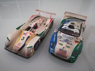 Scalextric pack Le man's audi R8 y Porsche 911 Gt1