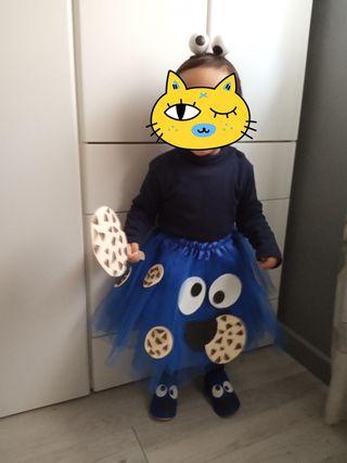 disfraz niña monstruo de las galletas