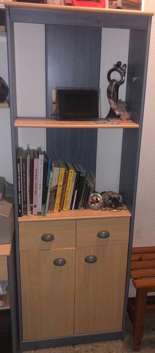 Mesa y estantería