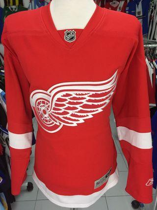 Camiseta hoquei detroit red wings nhl reebok