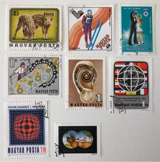 Lote de 8 sellos CTO de Hungría- variados