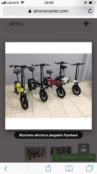 Bicicleta eléctrica pegable E-tron