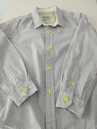 Camisa manga larga rayas niño ZARA Talla 3 4 años de segunda