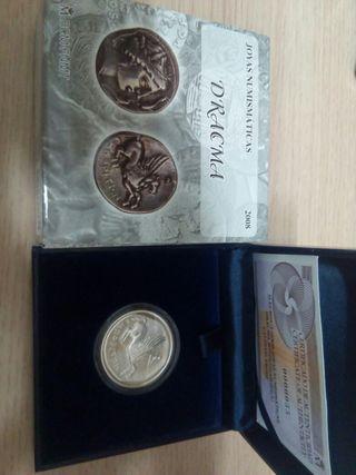Moneda plata 10€ joyas numismáticas 2008 (Dracma)