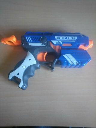 pistola nerf sin balas
