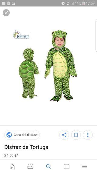 disfraz de tortuga 3-4