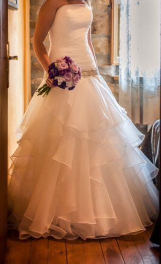 vestido de novia rosa clara de segunda mano en valladolid en wallapop