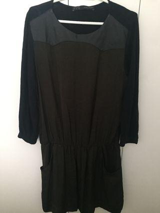 Vestido verde y negro(segunda mano)