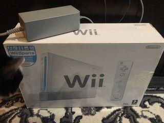 Consola Wii con un mando más un Nunchu