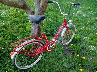 Bicicleta bh paseo plegable roja