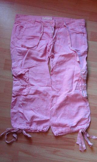 pantalon a estrenar rosa chicle bershka
