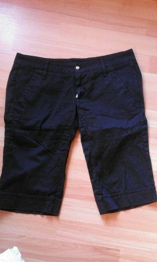 pantalon nuevo negro medio largo stradivarius