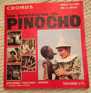 Álbum cromos Las aventuras de Pinocho