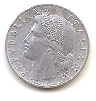 ITALIA,1 LIRA 1948.