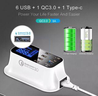 Condensador usb carga rápida 3.0 type c digital