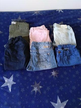 Lote pantalones niña talla 9-10