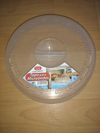 tapa para microondas
