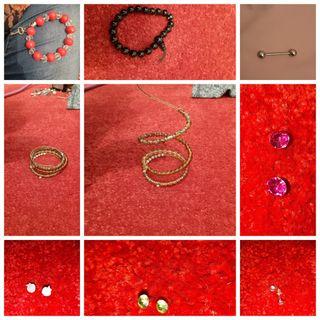 Pendientes pulseras collares
