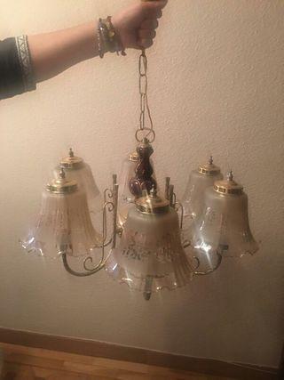 lampara bronce