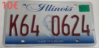 Matriculas Americanas, Illinois