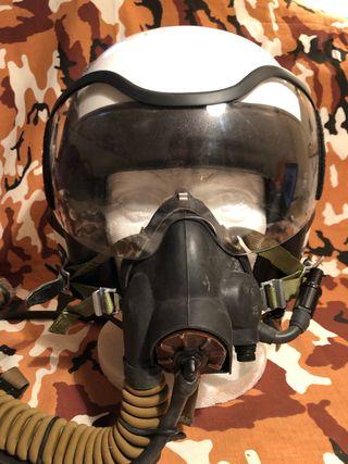 Casco de piloto de caza aviación,
