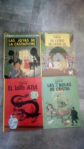 tintin cuatro libros comic