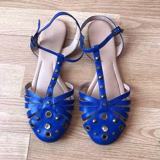 Zapatos abiertos azules