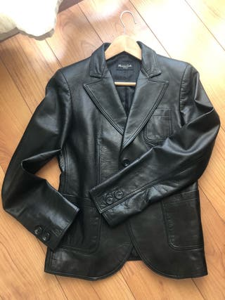 Jaqueta de piel Massimo Dutti mujer