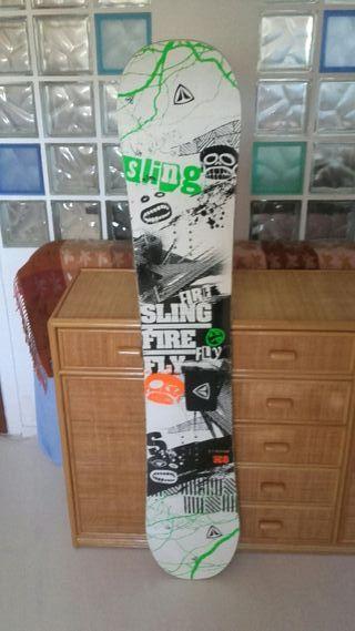 Tabla snowboard y fijaciones