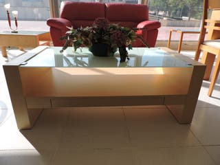 Mesa de centro nueva con revistero + cajón