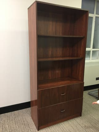 Estanteria armario oficina madera