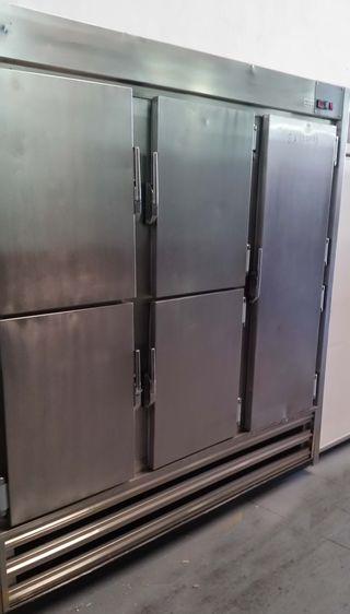 armario 6 puertas inox