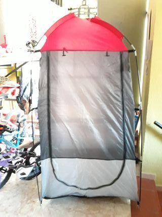 Tienda camping (ducha, trastero)
