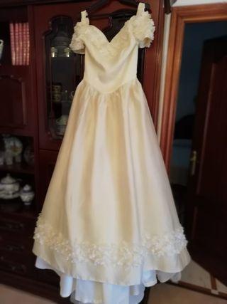 vestido de novia rosa clara de segunda mano en málaga en wallapop