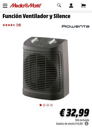 Calefactor termoventilador nuevo Rowenta So-2320