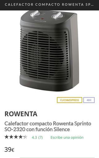 Calefactor termoventilador nuevo Rowenta SO-2330