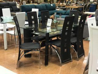 OFERTA!! Mesa de cristal+ 6 sillas NUEVA!