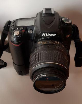 Nikon D90 objetivo 18-55 mm accesorios