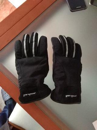 guantes de moto en tela