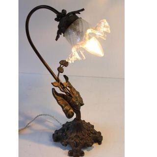 Antigua lámpara modernista 1920 art deco