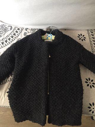 Abrigo gris lana niña