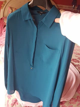 camisa verde azul