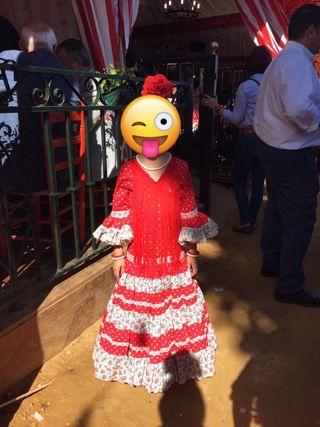 Traje de flamenca niña