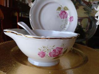 salsera + platillo porcelana