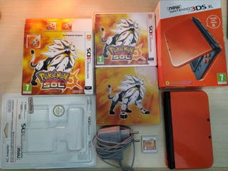 New Nintendo 3DS XL + Pokémon Sol + Amarillo