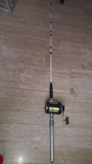 Caña de pescar. Carrete eléctrico