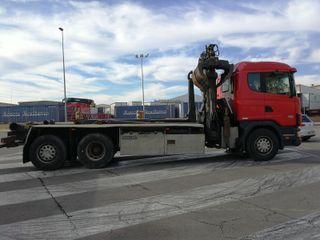 Camión Scania P380 6x2 Multilif Grua Chatarrera