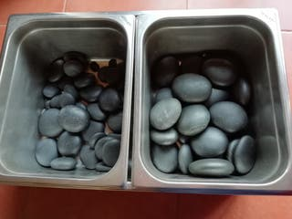 calentador de piedras calientes para masaje